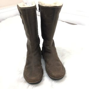 TEVA Tonalea Brown Faux Fur Zip Boots Size 7.5